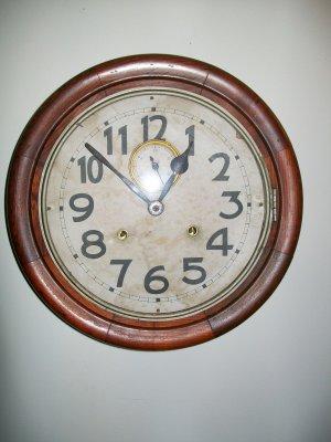 Antique Railroad Wall Clock