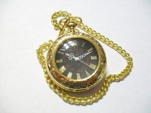 Gold Tone Quartz Mens Pocket Watch