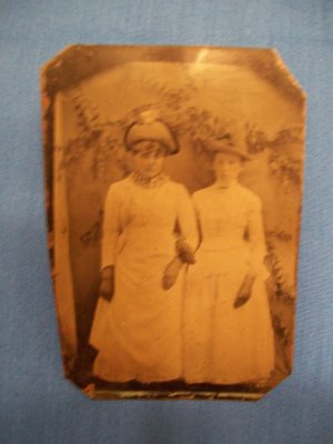 Vintage Antique Photo on Copper
