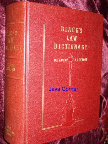 Black's Law Dictionary Deluxe Third Edition, 1944
