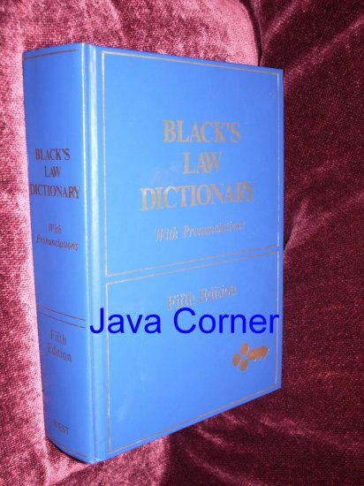 Black's Law Dictionary Fifth Edition, 1979