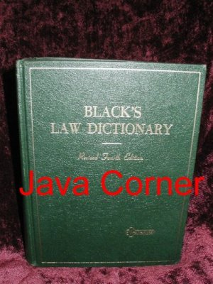 Black's Law Dictionary Revised Fourth Edition