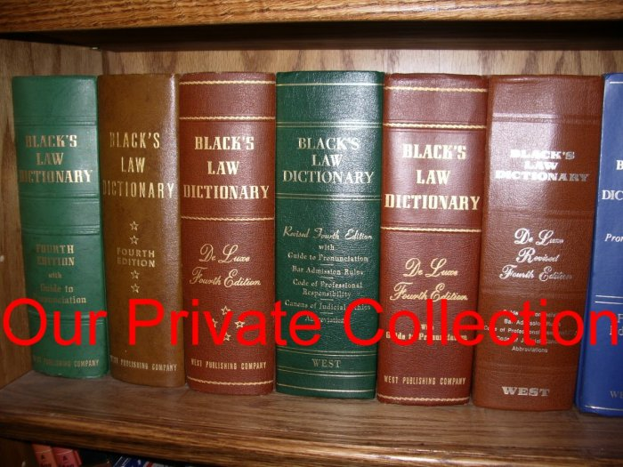 Black's Law Dictionary Fourth Edition Collection