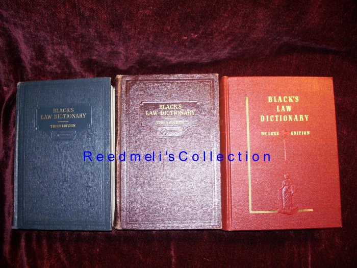 Black's Law Dictionary Third Edition Collection