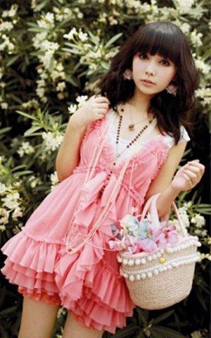 Pink Sprinkled Layered Cupcake Dress