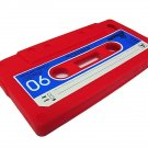 Cassette Tape Silicone Skin Case Cover for Apple iPhone 4 4G 4S Red