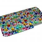 Bling Rhinestone Rainbow Back Hard Case Cover for Apple iphone 3G 3GS