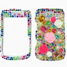 Bling Rhinestone Crystal Multi Color Flower Case Cover for Blackberry 9700 9780 Bold