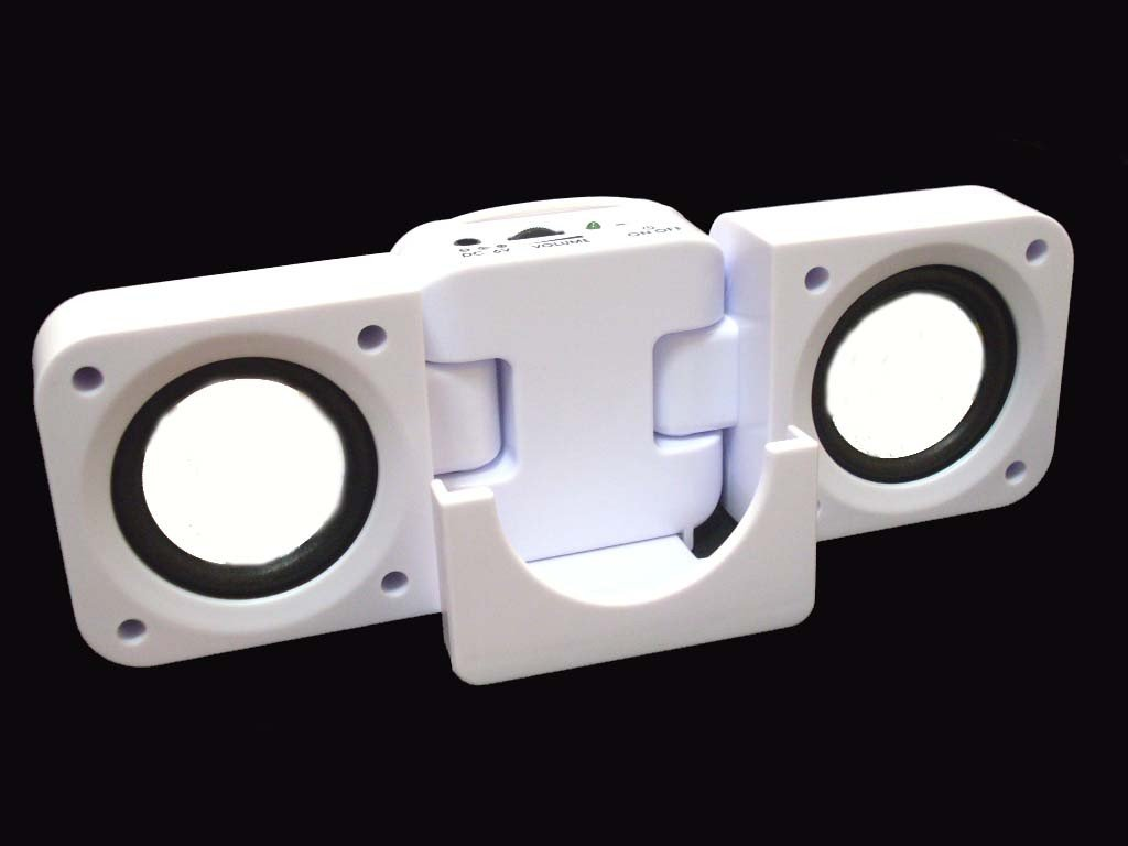 Portable Stereo Speaker for Samsung i9000 Galaxy S White