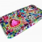Bling Rhinestone Crystal Red Heart Hard Case Cover for Apple iPhone 4 4G 4S