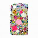 Bling Rhinestone Crystal Flower Case Cover for Samsung i9000 Galaxy S MF