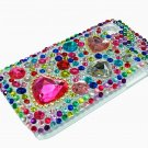 Bling Rhinestone Crystal Red Heart Case Cover for Samsung i9000 Galaxy S
