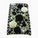 Bling Rhinestone Crystal Black Flower Hard Case Cover for Apple iPod Touch 4 4G 4th Gen