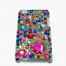 Bling Rhinestone Crystal Red Heart Hard Case Cover for Apple iPod Touch 4 4G 4th Gen