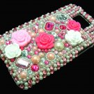 Bling Rhinestone Crystal Pink Flower Hard Case Cover for Apple iPod Touch 4 4G 4th Gen