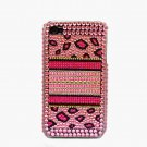 Bling Rhinestone Crystal Leopard Pink Hard Case Cover for Apple iPhone 4 4G 4S