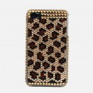 Bling Rhinestone Crystal Leopard Gold Hard Case Cover for Apple iPhone 4 4G 4S FG