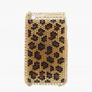 Bling Rhinestone Crystal Leopard Gold Hard Case Cover for Apple iPhone 3G 3GS FG