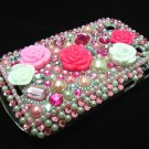 Bling Rhinestone Crystal Pink Flower Case Cover for Blackberry 9900 9930 Bold LP