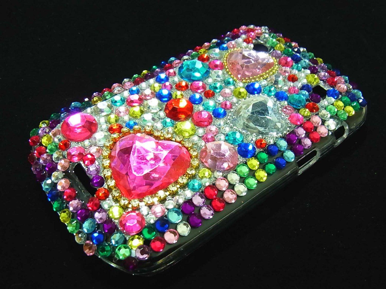 Bling Rhinestone Crystal Red Heart Case Cover for Blackberry 9900 9930 Bold RH