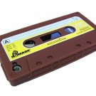 Cassette Tape Silicone Skin Case Cover for Apple iPhone 4 4G 4S Brown