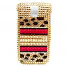 Bling Leopard Gold Pearl Case Cover for Samsung T989 Hercules Galaxy S2 T-Mobile