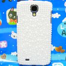 Bling Crystal Pearl White Hard Case Cover For Samsung i9500 Galaxy S4