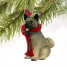 Akita Gray Christmas Ornament