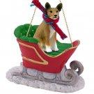Basenji Sleigh Ride Ornament