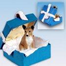Basenji Blue Gift Box Ornament