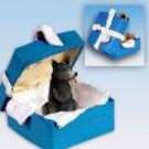 Australian Cattle Dog Blue, Blue Gift Box Ornament