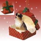 Australian Shepherd Brown Red Gift Box Ornament