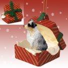 Australian Shepherd Blue, Docked  Gift Box Ornament