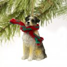 Australian Shepherd Blue, Docked Christmas Ornament