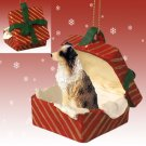Australian Shepherd Brown, Docked Red Gift Box Ornament