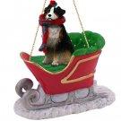 Australian Shepherd Tricolor, Docked Sleigh Ride Ornament