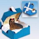 Yorkshire Terrier Blue Gift Box Ornament
