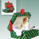 Borzoi Green Gift Box Ornament