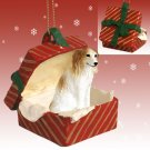 Borzoi Red Gift Box Ornament