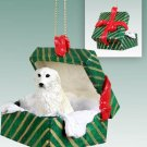 Great Pyrenees Green Gift Box Ornament