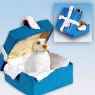 Clumber Spaniel Blue Gift Box Ornament