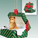 Finnish Spitz Green Gift Box Ornament