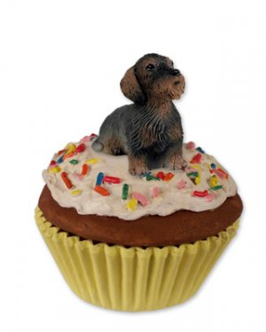 Wire Haired Dachshund Pupcake Trinket Box