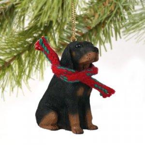 Black & Tan Coonhound Christmas Ornament
