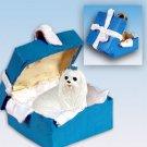 Maltese Blue Gift Box Ornament