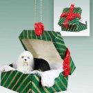 Old English Sheepdog Green Gift Box Ornament