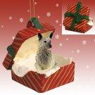 Norwegian Elkhound Red Gift Box Ornament