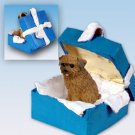 Norfolk Terrier Blue Gift Box Ornament