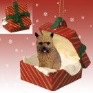 Norwich Terrier Red Gift Box Ornament