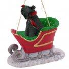 Kerry Blue Terrier Sleigh Ride Ornament